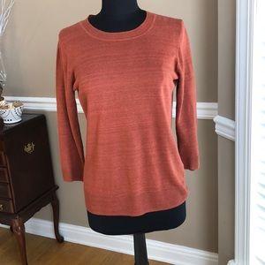 J. Crew rust colored sweater, Sz M